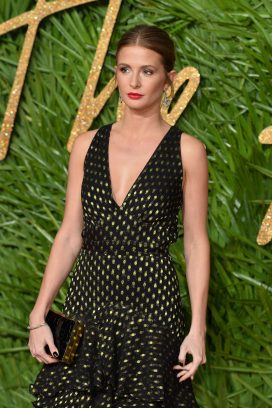 LONDON, ENGLAND - DECEMBER 04: Millie Mackintosh attends The Fashion Awards 2017 in partnership with Swarovski at Royal Albert Hall on December 4, 2017 in London, England. (Photo by Jeff Spicer/BFC/Getty Images)