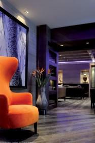 salon fauteuil orange