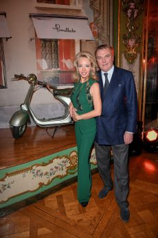 PARIS, FRANCE - JANUARY 24: Princess Camilla, Duchess of Castro and Prince Carlo, Duke of Castro attend the Cocktail & Dinner for the new Pomellato campaign launch with Chiara Ferragni as part of Paris Fashion Week during Haute-Couture Spring/Summer 2018 at Ambassade d'Italie on January 24, 2018 in Paris, France. (Photo by Venturelli/Getty Images for Pomellato)