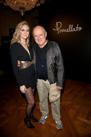 PARIS, FRANCE - JANUARY 24: Peter Lindbergh and Chiara Ferragni attend the Cocktail & Dinner for the new Pomellato campaign launch with Chiara Ferragni as part of Paris Fashion Week during Haute-Couture Spring/Summer 2018 at Ambassade d'Italie on January 24, 2018 in Paris, France. (Photo by Venturelli/Getty Images for Pomellato)