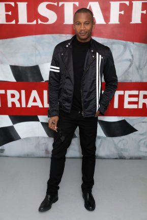 LONDON, ENGLAND - JANUARY 08: Eric Underwood attends the Belstaff AW18 Mens & Womens Presentation during London Fashion Week Men's January 2018 on January 8, 2018 in London, England. (Photo by Darren Gerrish/WireImage) *** Local Caption *** Eric Underwood