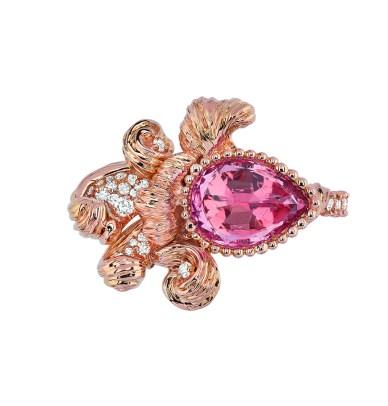 JSCR93013 - INTIMITE SPINELLE ROSE RING (1)