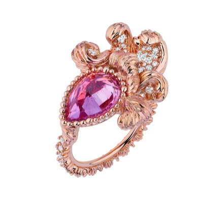 JSCR93013 - INTIMITE SPINELLE ROSE RING (2)