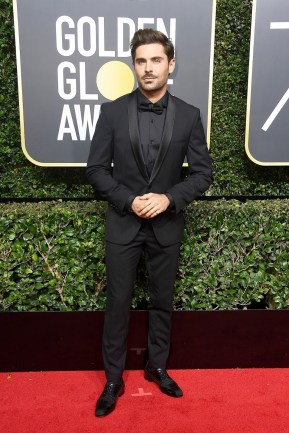 BEVERLY HILLS, CA - JANUARY 07: Actor Zac Efron attends The 75th Annual Golden Globe Awards at The Beverly Hilton Hotel on January 7, 2018 in Beverly Hills, California. (Photo by Frazer Harrison/Getty Images)
