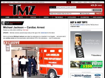 TMZ et La mort de Jackson
