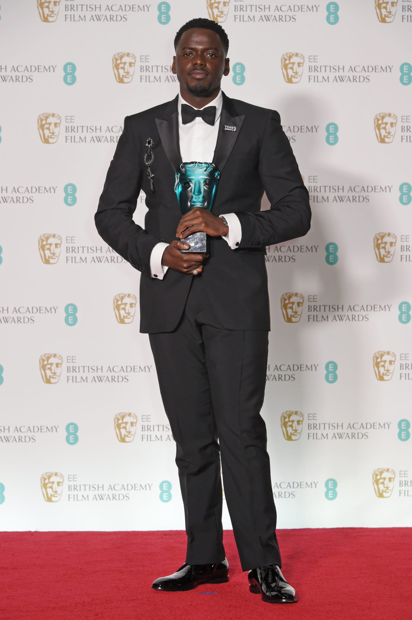 LONDON, ENGLAND - FEBRUARY 18: Daniel Kaluuya, winner of the Rising Star award, poses in the press room during the EE British Academy Film Awards (BAFTA) held at Royal Albert Hall on February 18, 2018 in London, England. (Photo by David M. Benett/Dave Benett/Getty Images)