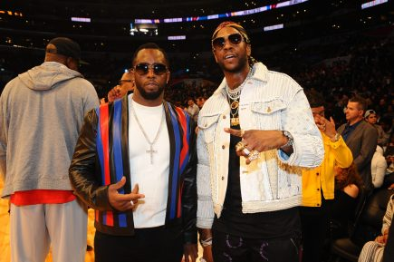LOS ANGELES, CA - FEBRUARY 18: Diddy and 2 Chainz attend the NBA All-Star Game as a part of 2018 NBA All-Star Weekend at STAPLES Center on February 18, 2018 in Los Angeles, California. NOTE TO USER: User expressly acknowledges and agrees that, by downloading and/or using this photograph, user is consenting to the terms and conditions of the Getty Images License Agreement. Mandatory Copyright Notice: Copyright 2018 NBAE (Photo by Juan Ocampo/NBAE via Getty Images)