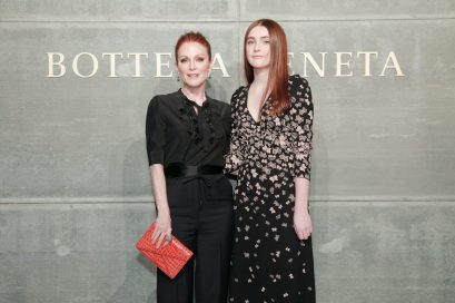 Julianne Moore, Liv Freundlich, At the Bottega Veneta Fall Winter 2018 show at the American Stock Exchange in New York City
