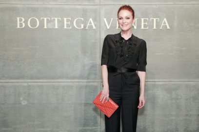 Julianne Moore, At the Bottega Veneta Fall Winter 2018 show at the American Stock Exchange in New York City