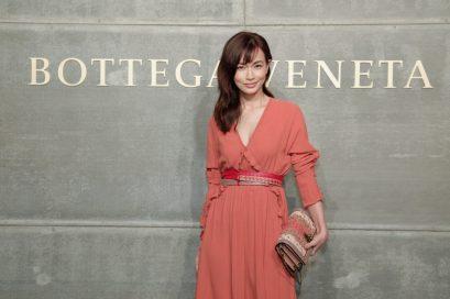 Kyoko Hasegawa, At the Bottega Veneta Fall Winter 2018 show at the American Stock Exchange in New York City