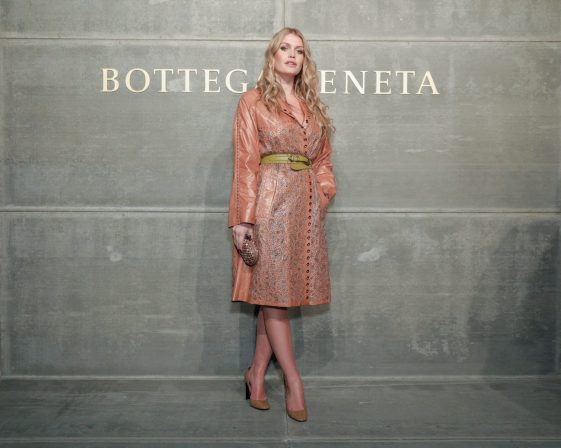 At the Bottega Veneta Fall Winter 2018 show at the American Stock Exchange in New York City
