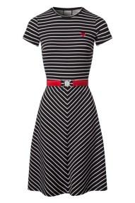 Mademoiselle YéYé- Adriane Stripes Dress Années 60 en Noir et Blanc - EUR 89,95