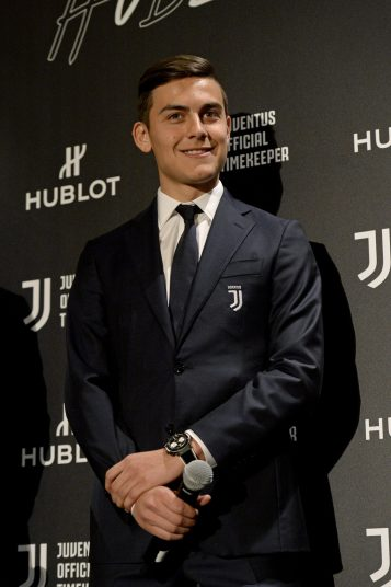 Paulo Dybala at the Hublot Classic Fusion Juventus launch