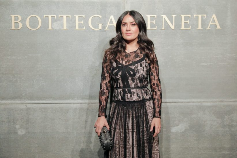 Salma Hayek, At the Bottega Veneta Fall Winter 2018 show at the American Stock Exchange in New York City