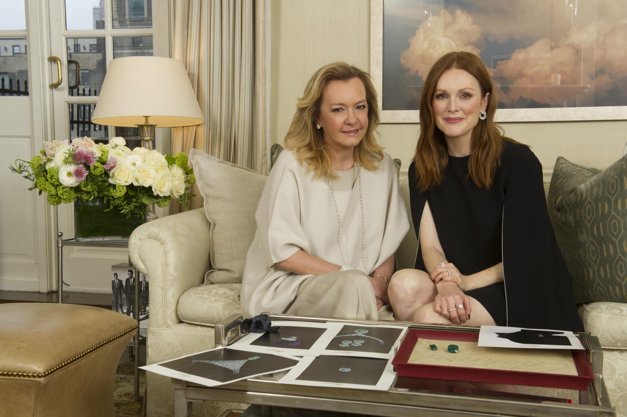 Caroline Scheufele and Julianne Moore in 2016
