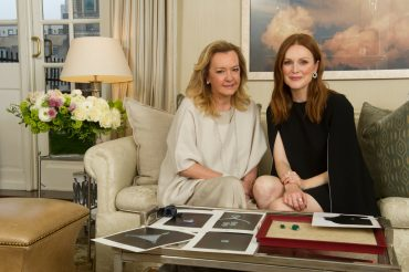 Caroline Scheufele and Julianne Moore in 2016