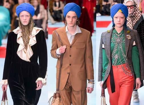 Le turban qui fait polémique, noyé au milieu de tout un tas d'autres références..