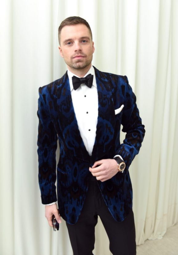 WEST HOLLYWOOD, CA - MARCH 04: Sebastian Stan attends the 26th annual Elton John AIDS Foundation Academy Awards Viewing Party with cocktails by Clase Azul Tequila at The City of West Hollywood Park on March 4, 2018 in West Hollywood, California. (Photo by Vivien Killilea/Getty Images for Clase Azul)