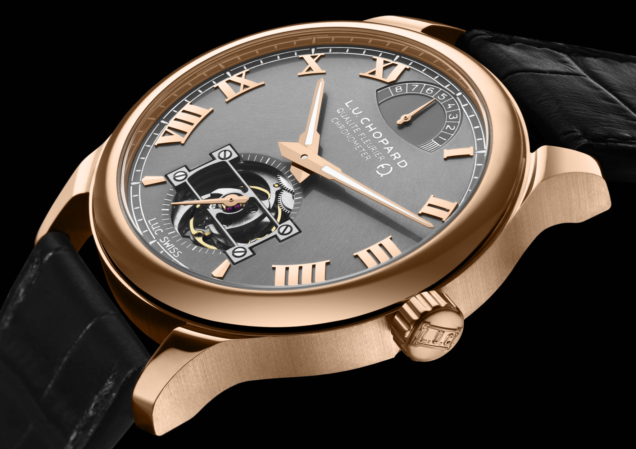 The first watch made with Fairmined gold, the L.U.C Tourbillon QF Fairmined