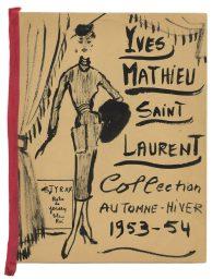 10 - Programme de collection de Paper doll, entre 1953 et 1955 © Fondation Pierre Bergé - Yves Saint Laurent _ Tous droits réservés