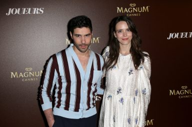 Tahar Rahim and Stacy Martin - Magnum VIP Party for the movie 'Joueurs; Treat me like fire' during the 71th Cannes Film Festival 2018 on May 11 2018.