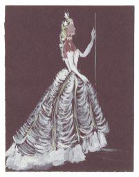 8 - Croquis de costume (non réalisé) pour la pièce L'Aigle à Deux Têtes de Jean Cocteau, 1951 © Fondation Pierre Bergé - Yves Saint Laurent _ Tous droits réservés
