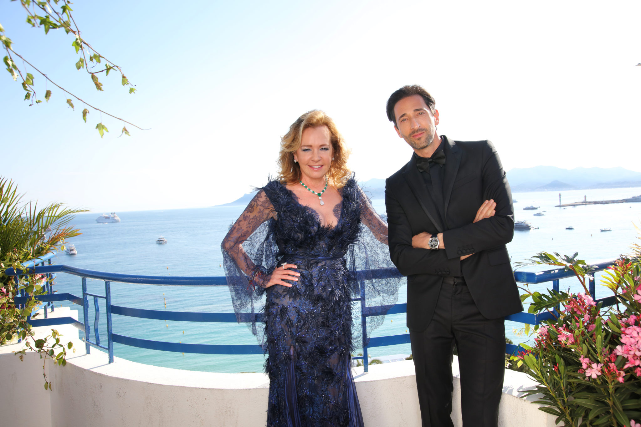 Caroline Scheufele & Adrian Brody with a L.U.C (1)