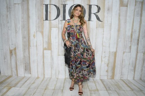 CHANTILLY, FRANCE - MAY 25: Paris Jackson poses at a photocall during Christian Dior Couture S/S19 Cruise Collection on May 25, 2018 in Chantilly, France. (Photo by Pascal Le Segretain/Getty Images For Christian Dior) *** Local Caption *** Paris Jackson