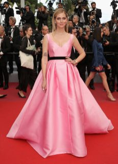"CANNES, FRANCE - MAY 13: Chiara Ferragni attends the screening of ""Sink Or Swim (Le Grand Bain)"" during the 71st annual Cannes Film Festival at Palais des Festivals on May 13, 2018 in Cannes, France. (Photo by Andreas Rentz/Getty Images)"