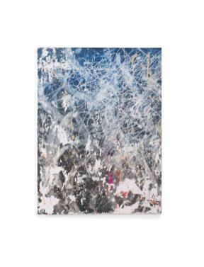 José PARLA, Blue Light Magenta Spot, 2012, Acrylique et plâtre sur toile ©Artcurial
