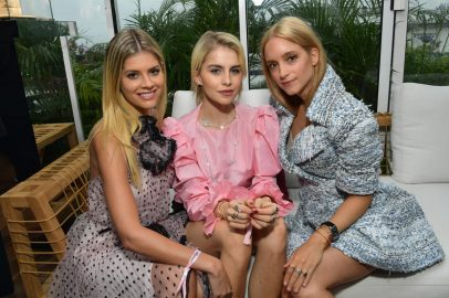 CANNES, FRANCE - MAY 13: (L-R) Lala Rudge, Caro Daur and Charlotte Groeneveld attend the ladies luncheon announcing the new partnership between Chopard and the Naked Heart Foundation at Hotel Martinez on May 13, 2018 in Cannes, France. (Photo by Emma McIntyre/Getty Images)