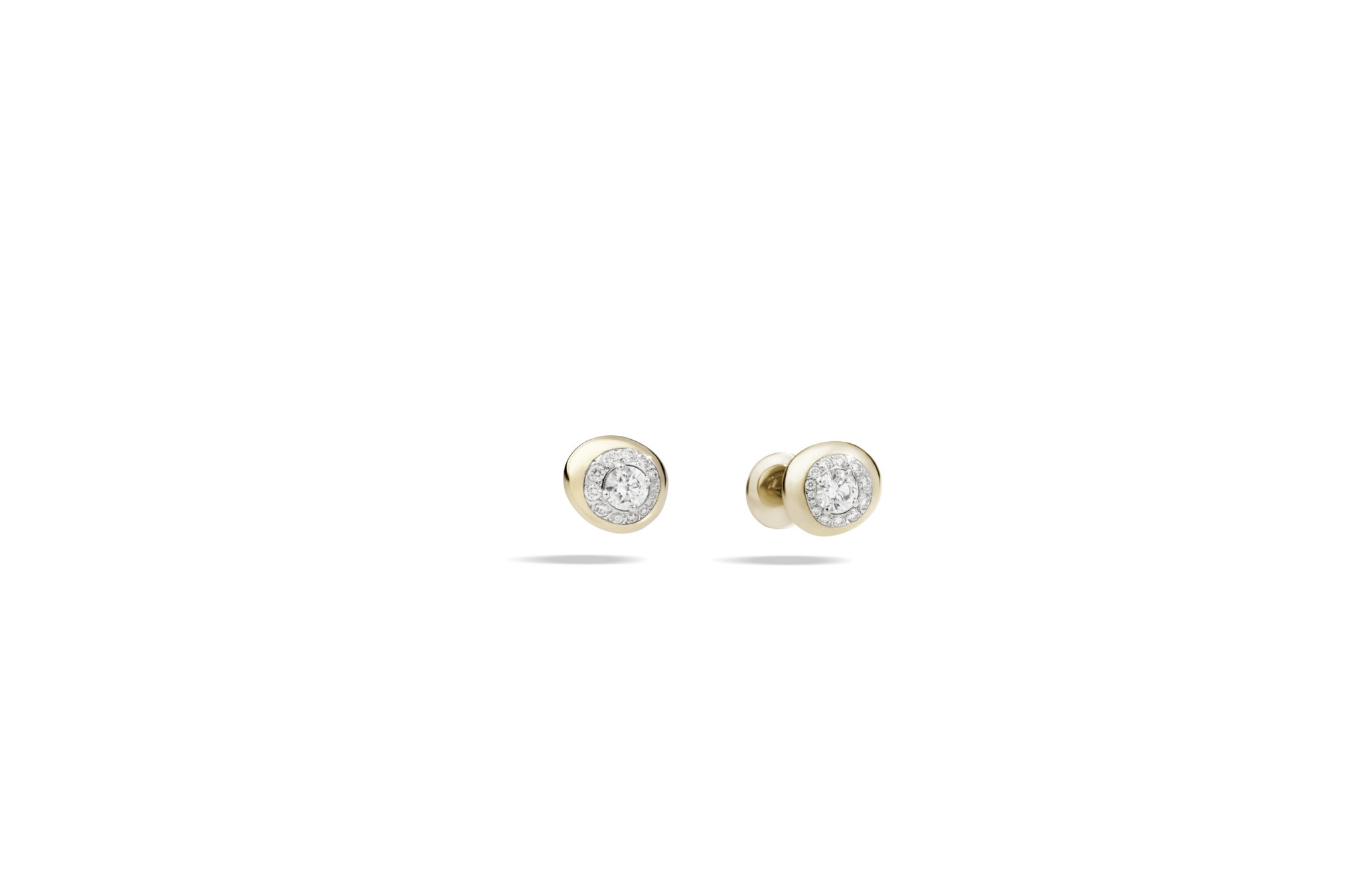 Nuvola earrings rose gold with diamonds by Pomellato
