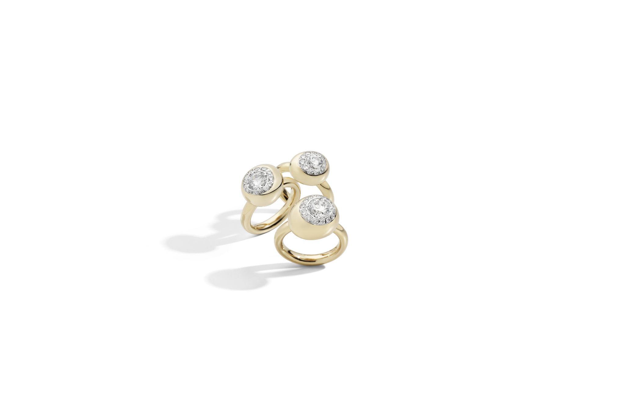 Nuvola rings rose gold and diamonds by Pomellato - Groupage