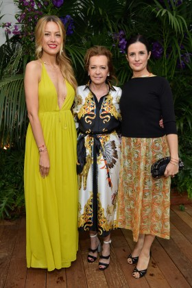 CANNES, FRANCE - MAY 13: (L-R) Petra Nemcova, Artistic Director and Co-President of Chopard, Caroline Scheufele and Livia Firth attend the ladies luncheon announcing the new partnership between Chopard and the Naked Heart Foundation at Hotel Martinez on May 13, 2018 in Cannes, France. (Photo by Emma McIntyre/Getty Images)