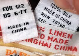 Chine et étiquetage