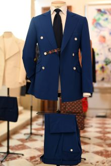 PARIS, FRANCE - JUNE 22: Outfit in display during the Smalto Menswear Spring/Summer 2019 Presentation as part of Paris Fashion Week on June 22, 2018 in Paris, France. (Photo by Pascal Le Segretain/Getty Images for Smalto)