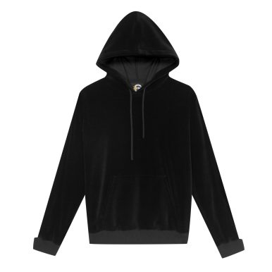 Sweat à capuche en velours noir