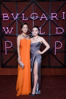 ROME, ITALY - JUNE 28: Kumiko Goto and Helena Alesi attend BVLGARI Dinner & Party at Stadio dei Marmi on June 28, 2018 in Rome, Italy. (Photo by Daniele Venturelli/Daniele Venturelli/Getty Images for Bvlgari )