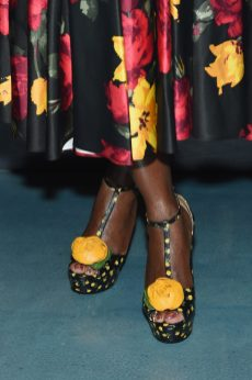 NEW YORK, NY - SEPTEMBER 12: Cynthia Erivo, shoe detail, attends the Michael Kors x 10 Corso Como Dinner at 10 Corso Como on September 12, 2018 in New York City. (Photo by Larry Busacca/Getty Images for Michael Kors)