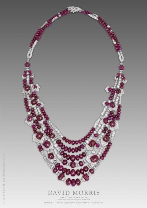 Collier rubis birmans