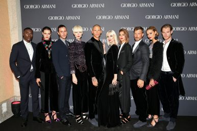 MUNICH, GERMANY - SEPTEMBER 13: Models during the Boutique Trunk Show & Giorgio's after party at Parkcafe on September 13, 2018 in Munich, Germany. (Photo by Gisela Schober/Getty Images for Giorgio Armani)