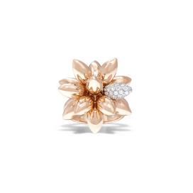 11-01-2495 Rose Gold Diam Hedgehog Ring Frnt