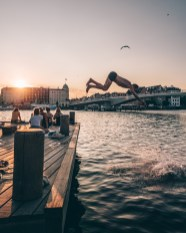 Sailing around in the Copenhagen canals on beautiful summer days and nights. The waters in the habour and in the canals are clean enough to swim in, and it is easy to navigate a rented boat or to take ride with one of the many canal tour offers.
