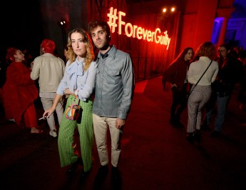 HOLLYWOOD, CA - NOVEMBER 02: Brooke Wise (L) attends Gucci Guilty Launch Party at Hollywood Forever on November 2, 2018 in Hollywood, California. (Photo by Matt Winkelmeyer/Getty Images for GUCCI)