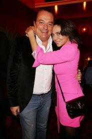 Gilles Mansard et Sandra Sisley lors de la soiree d'inauguration du restaurant Roxie a Paris, France, le 27 Novembre 2018. Photo by Jerome Domine/ABACAPRESS.COM