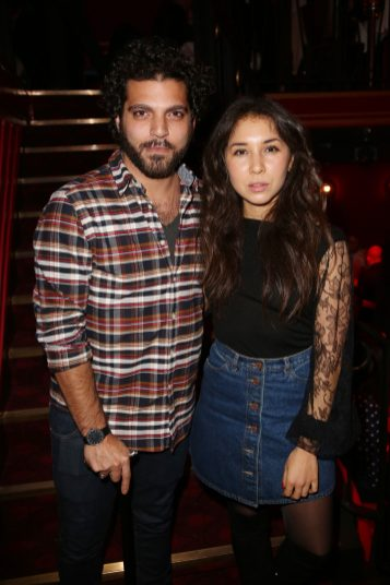 Vincent Heneine et Sofiia Manousha lors de la soiree d'inauguration du restaurant Roxie a Paris, France, le 27 Novembre 2018. Photo by Jerome Domine/ABACAPRESS.COM