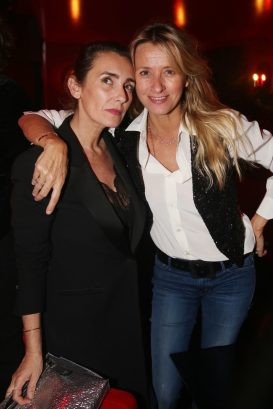 Mlle Agnes et Sarah Lavoine lors de la soiree d'inauguration du restaurant Roxie a Paris, France, le 27 Novembre 2018. Photo by Jerome Domine/ABACAPRESS.COM