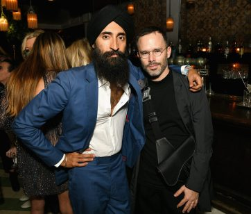 MIAMI, FL - DECEMBER 06: Waris Ahluwalia (L) and Daniel Arsham attend Adidas Originals, British Fashion Council and David Beckham host a dinner in celebration of their creative collaboration on December 6, 2018 in Miami, United States. (Photo by Getty Images/BFC/Getty Images for BFC) *** Local Caption *** Waris Ahluwalia;Daniel Arsham