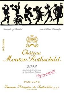 Etiquette spécimen Ch. Mouton Rothschild 2016