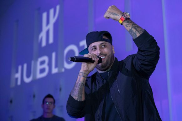 Private concert of Nicky Jam for the launch of the Hublot Big Bang Meca-10 Nicky Jam